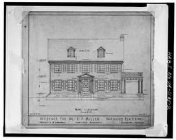 Photocopy Of Original Drawing In Lynchburg Architectural Archive At Jones Memorial Library, Lynchburg Front Elevation