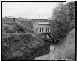 Pumping Plant, Southwest And Southeast Sides, And Stilling Pond