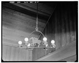 Detail Of Horse Lamp Fixture In Original Clubhouse Bar