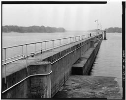 Interior View Of Auxiliary Lock, With Dam Abutment In Background, Looking Southwest