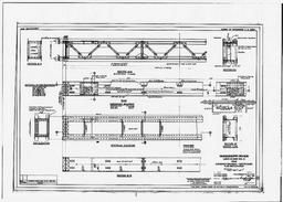 Dam - Emergency Bulkhead - Tainter Gates - Plan & Elevation (ml-4-58/3-fs), June 1933
