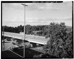 View Northeast, Elevated Ohio 7 In Foreground, Bridgeport Bridge In Background, Taken From I-70