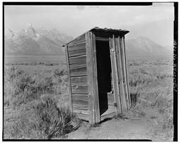 BWPhotos 374012, Pfeiffer Homestead, Outhouse, 90'  North of Homestead Cabin, Moose, Teton County, WY