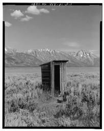 BWPhotos 374014, Pfeiffer Homestead, Outhouse, 90'  North of Homestead Cabin, Moose, Teton County, WY