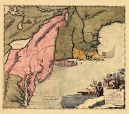 Map - Page 1 - A Map of/New ENGLAND/New YORKE New IERSEY/MARYLAND and VIRGINIA/Sould by Robert Morden at ye Atlas in/Corn-hill neer ye Royal Exchange and by/William Berry at ye Globe Strande/London, A Map of/New ENGLAND/New YORKE New IERSEY/MARYLAND and VIRGINIA/Sould by Robert Morden at ye Atlas in/Corn-hill neer ye Royal Exchange and by/William Berry at ye Globe Strande/London