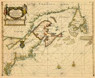 Map - Page 1 - A New Chart for the/Seacoasts of/NEWFOUND LAND NEW SCOTLAND/NEW ENGLAND NEW JARSEY Wth/VIRGINIA and MARYLAND./-/By William Fisher - Richd Mount/at ye Postern on Tower-hill, A New Chart for the/Seacoasts of/NEWFOUND LAND NEW SCOTLAND/NEW ENGLAND NEW JARSEY Wth/VIRGINIA and MARYLAND./-/By William Fisher - Richd Mount/at ye Postern on Tower-hill