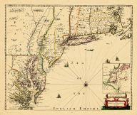 Map - Page 1 - A NEW MAP OF NEW ENGLAND-NEW YORK-NEW IARSEY-PENSILVANIA-MARYLAND-AND VIRGINIA-By Philip Lea in Cheap-side London, A NEW MAP OF NEW ENGLAND-NEW YORK-NEW IARSEY-PENSILVANIA-MARYLAND-AND VIRGINIA-By Philip Lea in Cheap-side London