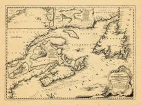 Map - Page 1 - A New Chart of the/Coast of/NEW ENGLAND, NOVA SCOTIA,/NEW FRANCE or CANADA,/with the Islands of/NEWFOUNDLD, CAPE BRETON/ST. JOHN's andc/, A New Chart of the/Coast of/NEW ENGLAND, NOVA SCOTIA,/NEW FRANCE or CANADA,/with the Islands of/NEWFOUNDLD, CAPE BRETON/ST. JOHN's andc/