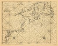 Map - Page 1 - A Chart of the/Sea Coast of/NEW FOUND LAND,/NEW SCOTLAND,/NEW ENGLAND,/NEW YORK,/NEW JERSEY, with/VIRGINIA and/MARYLAND.//Sold by Richd. Mount and Tho- Page at the Postern/on Great Tower hill London, A Chart of the/Sea Coast of/NEW FOUND LAND,/NEW SCOTLAND,/NEW ENGLAND,/NEW YORK,/NEW JERSEY, with/VIRGINIA and/MARYLAND.//Sold by Richd. Mount and Tho- Page at the Postern/on Great Tower hill London