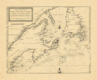 Map - Page 1 - A Chart of the Coast of/NEW FOUND LAND/NEW SCOTLAND/and NEW ENGLAND andc., A Chart of the Coast of/NEW FOUND LAND/NEW SCOTLAND/and NEW ENGLAND andc.