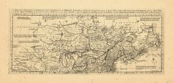Map - Page 1 - A Map of the BRITISH and FRENCH SETTLEMENTS in NORTH AMERICA-[Part the first] Containing Canada, Nova Scotia, New found land, New England, part of New York,/ French Encroachments-Authentic Surveys, A Map of the BRITISH and FRENCH SETTLEMENTS in NORTH AMERICA-[Part the first] Containing Canada, Nova Scotia, New found land, New England, part of New York,/ French Encroachments-Authentic Surveys