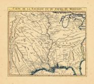 Map - Page 1 - CARTE DE LA LOUISIANE DE DU COURS DU MISSISSIPI, CARTE DE LA LOUISIANE DE DU COURS DU MISSISSIPI