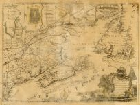 Map - Page 1 - To his/Excellency Edwd. Cornwallis Esq-/GoverneurNova Scotia in America_andc_/This MAP of the Province of NOVA SCOTIA/and Parts adjacent is humbly presented/byServant/James Turner, To his/Excellency Edwd. Cornwallis Esq-/GoverneurNova Scotia in America_andc_/This MAP of the Province of NOVA SCOTIA/and Parts adjacent is humbly presented/byServant/James Turner