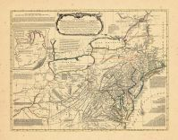 Map - Page 1 - A General/MAP of the/MIDDLE BRITISH COLONIES IN AMERICA/VIZ. VIRGINIA, MARLYLAND, DELAWARE, PENSILVANIA, NEW-JERSEY, NEW YORK,/CONNECTICUT, and RHODE-ISLAND- of AQUANISHUONIGYby Mr. Lewis Evans., A General/MAP of the/MIDDLE BRITISH COLONIES IN AMERICA/VIZ. VIRGINIA, MARLYLAND, DELAWARE, PENSILVANIA, NEW-JERSEY, NEW YORK,/CONNECTICUT, and RHODE-ISLAND- of AQUANISHUONIGYby Mr. Lewis Evans.