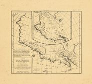 Map - Page 1 - CARTE/DE LA CALIFORNIE/ET DES PAYS NORD-OUEST/separes de l'ASIE par/le detroit d'Anian,/extraite de deux cartes17e. Siecle/Par le S. ROBERT DE VAUGONDY Geog. ord. du Roi/1772, CARTE/DE LA CALIFORNIE/ET DES PAYS NORD-OUEST/separes de l'ASIE par/le detroit d'Anian,/extraite de deux cartes17e. Siecle/Par le S. ROBERT DE VAUGONDY Geog. ord. du Roi/1772