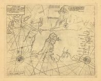 Map - Page 1 - A CHART/Shewing Part of the Sea Coast of NEW/FOUNDLAND From ye Bay of Bulls to/little Placentia exactly and Carefully layd/down by Iohn Gaudy.//S. Parker Sculp, A CHART/Shewing Part of the Sea Coast of NEW/FOUNDLAND From ye Bay of Bulls to/little Placentia exactly and Carefully layd/down by Iohn Gaudy.//S. Parker Sculp