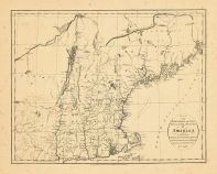 Map - Page 1 - MAP of the NORTHERN,or,NEW ENGLAND STATES of AMERICA Comprehending Vermont, New Hampshire, District of Maine, Massachusetts, Rhode Island and Connecticut., MAP of the NORTHERN,or,NEW ENGLAND STATES of AMERICA Comprehending Vermont, New Hampshire, District of Maine, Massachusetts, Rhode Island and Connecticut.
