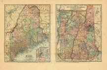 L HALF-]MAP OF/MAINE [R HALF-]MAP OF/NEW HAMPSHIRE AND VERMONT ...
