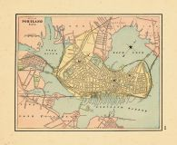 Old Maine Map.City Of Portland Maine Historical Atlas