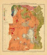 Map - Page 1 - PRELIMINARY GEOLOGICAL MAP OF THE YELLOWSTONE NATIONAL PARK, PRELIMINARY GEOLOGICAL MAP OF THE YELLOWSTONE NATIONAL PARK