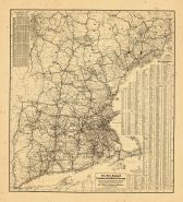 Map - Page 2 - The New England/Commercial and Route Survey/Showing all Postoffices, Railroads, Electric Roads in operation and/proposed, GOOD ROADS, Population (showing latest Mas-/sachusetts Census)Table.[RECTO], The New England/Commercial and Route Survey/Showing all Postoffices, Railroads, Electric Roads in operation and/proposed, GOOD ROADS, Population (showing latest Mas-/sachusetts Census)Table.[RECTO]