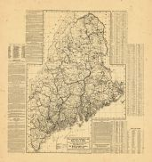 Map - Page 1 - New Commercial, Sportsmen's and/Route Survey of Maine/Showing all Postoffices, Railroads, Electric Roads, Principal High-/ways, Lightnouses, Camps and Trails, with Index/[VERSO], New Commercial, Sportsmen's and/Route Survey of Maine/Showing all Postoffices, Railroads, Electric Roads, Principal High-/ways, Lightnouses, Camps and Trails, with Index/[VERSO]