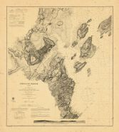 Map - Page 1 - PORTLAND HARBOR/MAINE/From a Trigonometrical Survey////Topography by A.W. LONGFELLOW Assist./1866, PORTLAND HARBOR/MAINE/From a Trigonometrical Survey////Topography by A.W. LONGFELLOW Assist./1866