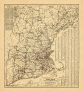 Map - Page 1 - The New England/Commercial and Route Survey/Showing all Postoffices, Railroads, Electric Roads in operation and/proposed, GOOD ROADS, Population (showing latest Mas-/sachusetts Census)Table.[RECTO], The New England/Commercial and Route Survey/Showing all Postoffices, Railroads, Electric Roads in operation and/proposed, GOOD ROADS, Population (showing latest Mas-/sachusetts Census)Table.[RECTO]