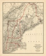 Map - Page 1 - Commercial Survery of New England railway map, Commercial Survery of New England railway map