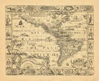 Map - Page 1, A New, Plaine, and Exact Map of America Described by NI Visscher, and Don into English... Blaeu