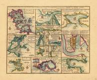 Map - Page 1, Particular Droughts and Plans of... America and West Indies... Boston... New York... Fort Royal