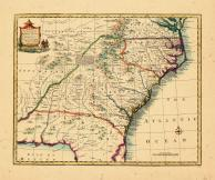 Map - Page 1, A New and Accurate Map of the Provinces of North & South Carolina Georgia