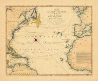 Map - Page 1, A New Chart of the Vast Atlantic or Western Ocean... Course of Sailing