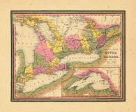 Map - Page 1, Canada West formerly Upper Canada