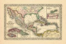 Map - Page 1, Map of Mexico, Central America, and the West Indies