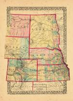 Map - Page 1, County map of Dakota, Wyoming, Kansas, Nebraska and Colorado