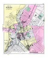 Map - Page 1, CITY OF/AUBURN/ANDROSCOGGIN CO. [UL] CITY OF LEWISTON [UR]