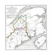 Map - Page 1, MAP/of the Northern Part of the/STATE OF MAINE/and of the adjacent/BRITISH PROVINCES./Shewing the portion of that State to which Great Britain lays claim./Reduced from the official Map A with