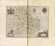 COMITATVS BRECHINIAE BREKNOKE [Brecknockshire or  Brecon County - incorporated into the modern county of Powys in 1972 ] 0361-00