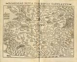 BOHEMIAE NOVA DESCRIPTIO TABULA XVII [Prague at Center, North to Bottom] 0355-00, GEOGRAPHIA VNIVERSALIS,VETUS ET NOVA,COMPLEDCTENS CLAVDII PTOLEMAEI