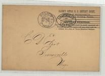 C. D. Eliot Somerville, Mass 1901 Clerk's Office U. S. District Court Front, Perkins Collection 1861 to 1933 Envelopes and Postcards