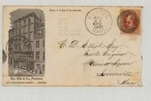 C. D. Elliot Esq Civil Engineer Union Square Somerville 1881 Wm. Mills & Co. Plumbers, Perkins Collection 1861 to 1933 Envelopes and Postcards