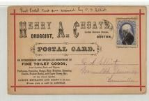 C. D. Elliot Warren Blk Union Sqr. Somerville - Henry A. Choate Druggest, Perkins Collection 1861 to 1933 Envelopes and Postcards