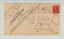 C. D. Wlliot E. 59 Oxford St. Somerville, Mass 1899 TWR Telso Auctioneer Real Estate and Insurance Agent, Perkins Collection 1861 to 1933 Envelopes and Postcards