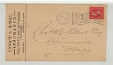 Charles Elliot Esq. Someville Mass 1896 Edward A. Binney Insurance, Real Estate and Mortgages, Perkins Collection 1861 to 1933 Envelopes and Postcards