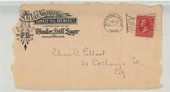 Chas D. Elliot 31 Exchange St. Cit 1896 A. G. Van Nostrand Bunker Hill Breweries, P. B. Ale, Bunkerhill Sugar Charlestown, Perkins Collection 1861 to 1933 Envelopes and Postcards