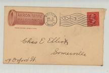 Chas E. Elliot Somerville 59 Oxford Street 1900 Akron Sewer Pipe Waldo Bros. , Perkins Collection 1861 to 1933 Envelopes and Postcards