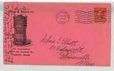 Chas E. Elliott, 59 Oxford St, Somerville, Mass 1906 Smith and Thayer Co., Perkins Collection 1861 to 1933 Envelopes and Postcards