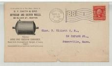 Chas. D. Elliott C. E. 59 Oxford St., Somerville, Mass 1905 B. F. Smith & Bro Artesian and Driven Wells - Front, Perkins Collection 1861 to 1933 Envelopes and Postcards