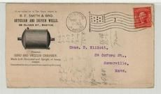 Chas. D. Elliott, 59 Oxford St., Somerville, Mass 1905 B. D. Smith & Bro. Artesian and Driven Wells Front, Perkins Collection 1861 to 1933 Envelopes and Postcards